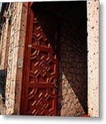 Mexican Door 49 Metal Print
