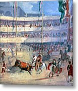 Mexico: Bullfight, 1833 Metal Print