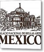Architecture. Mexico City - Palace Of Fine Art Metal Print
