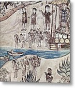 Mexico Indians C1500 Metal Print
