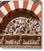 Mezquita Cathedral Religious Carving Metal Print