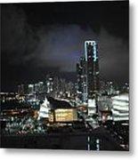 Miami At Night Metal Print