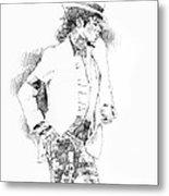 Michael Jackson Attitude Metal Print