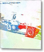 Michael Schumacher Metal Print by Naxart Studio