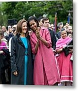 Michelle Obama And Mrs. Margarita Metal Print by Everett