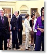 Michelle Obama Laughs With Guests Metal Print