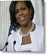 Michelle Obama Visited The Treasury Metal Print