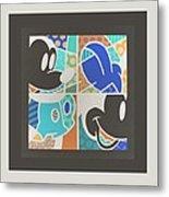 Mickey In Negative Metal Print
