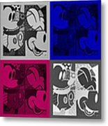 Mickey In Quad Colors Metal Print