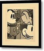 Mickey In Sepia Metal Print