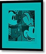 Mickey In Turquois Metal Print