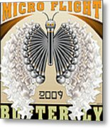 Micro Flight Butterfly Metal Print