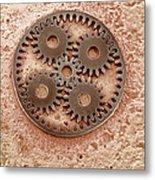 Microcogs Metal Print