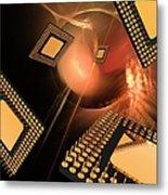 Microprocessor Chips, Artwork Metal Print