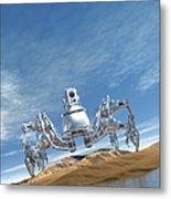 Microrobot, Conceptual Artwork Metal Print