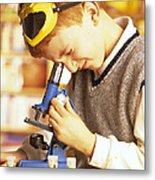 Microscope Use Metal Print