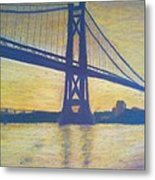 Mid-hudson Bridge Sunrise Metal Print