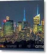 Mid-town Manhattan Twilight I Metal Print