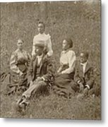 Middle Class African American Family Metal Print