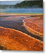 Middle Hot Springs Yellowstone Metal Print