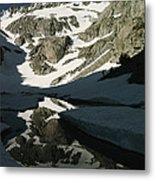 Middle Palisade Peak Reflects In Finger Metal Print
