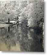 Middle River In Infrared Metal Print