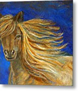 Midnight Amber Metal Print