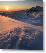 Midnight Sun Above Lilletinden Metal Print