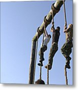 Midshipmen Tackle The Ropes Portion Metal Print