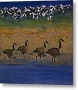 Migration Series Geese 2 Metal Print
