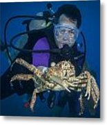 Mike And The Crab Metal Print