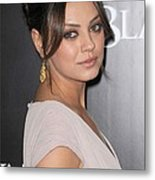 Mila Kunis At Arrivals For Black Swan Metal Print