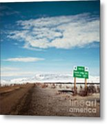 Milepost At The Dempster Highway Metal Print
