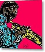 Miles Davis Full Color Metal Print