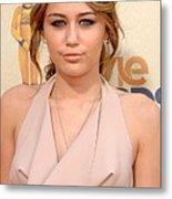 Miley Cyrus Wearing A Moschino Cheap & Metal Print