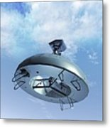 Military Drone, Conceptual Artwork Metal Print