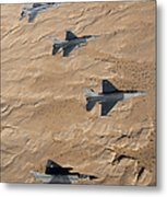 Military Fighter Jets Fly In Formation Metal Print