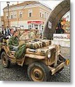 Military Old Car Metal Print