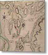 Military Plan Of The North Part Of Rhode Island Metal Print