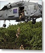 Military Reserve Navy Seals Demonstrate Metal Print by Michael Wood