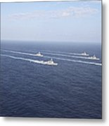 Military Ships Transit The Philippine Metal Print