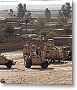 Military Vehicles Parked Outside Loy Metal Print