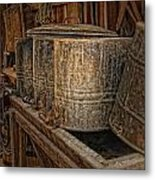 Milk Buckets Metal Print