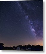 Milky Way And Perseid Meteor Shower Metal Print