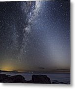Milky Way Over Cape Otway, Australia Metal Print