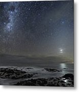 Milky Way Over Cape Schanck, Australia Metal Print