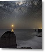 Milky Way Over Shipwreck Coast Metal Print