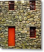 Mill House Over Stream Metal Print