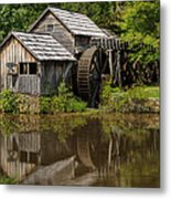 Mill Pond Reflection Metal Print