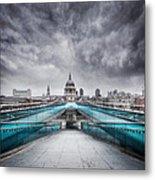 Millenium Bridge London Metal Print